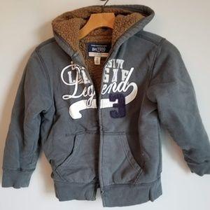 Boy's(S-5/6 )Children's Place Grey Full-Zip Jacket